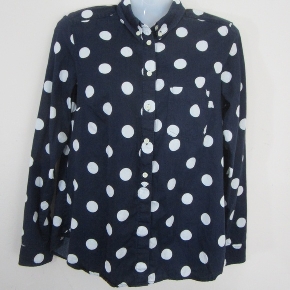 d6239810ecb Gap Women's Navy Polka Dot Shirt Size S